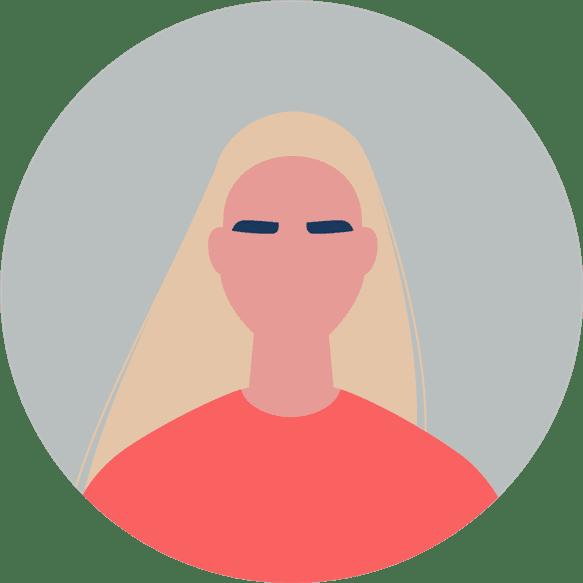 Woman applicant icon
